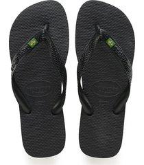 sandalias chanclas havaianas para hombre negro brasil