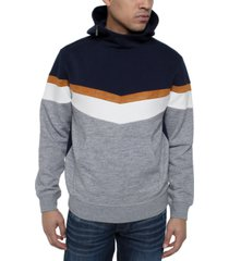 sean john men's chevron colorblocked hoodie