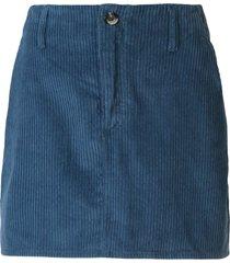 nobody denim esoteric corduroy skirt - blue