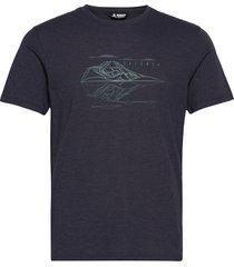 explore blend tee m night sky/heather t-shirts short-sleeved blå salomon