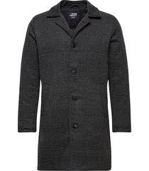 wool check coat wollen jas lange jas grijs denim project