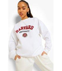gelicenseerde harvard sweater, white