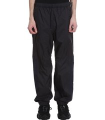 acne studios pegasus pants in black nylon