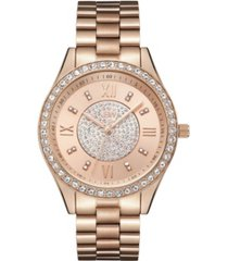 jbw women's mondrian diamond (1/6 ct.t.w.) 18k rose gold plated stainless steel watch
