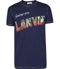 lanvin blue cotton t-shirt
