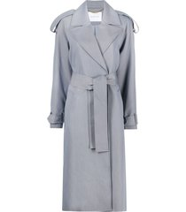 camilla and marc recycled polyester trench coat - grey