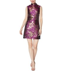 laundry by shelli segal jacquard mock-neck dress