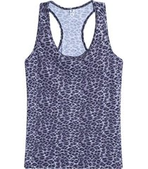 camiseta atletica animal print color negro, talla s