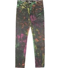 marcelo burlon over-dye wash spots skinny jeans