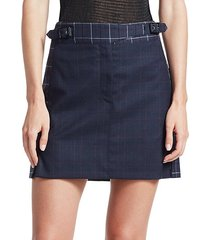 james plaid mini skirt