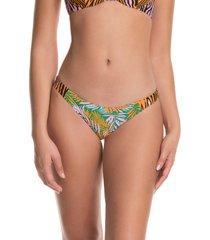 women's maaji golden hour flirt reversible bikini bottoms, size large - orange