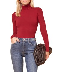 women's reformation navia turtleneck bodysuit