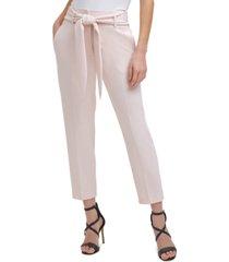 dkny tie-waist high-rise pants
