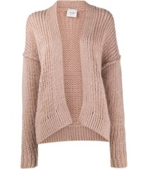 alysi knitted drop shoulder cardigan - pink