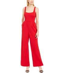 calvin klein square-neck jumpsuit