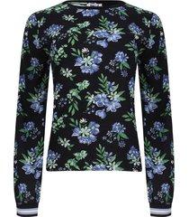 blusa con resorte en mangas color negro, talla 12