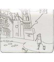 emilio pucci scorci fiorentini bi-fold wallet - white