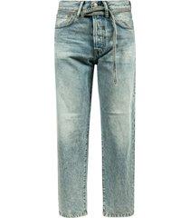 acne studios straight belt-tie jeans
