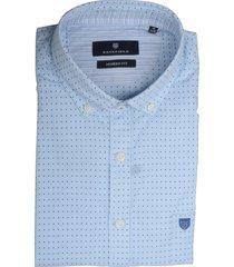 basefield overhemd blauw met print 219015017/605