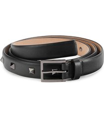 valentino garavani men's studded leather belt - marine - size 105 (42)