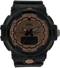 reloj transparente negro umbro