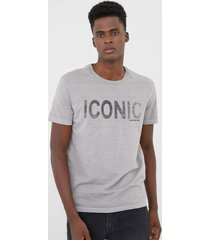 camiseta calvin klein jeans iconic cinza