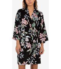 linea donatella vivienne floral-print wrap robe