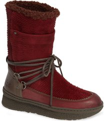 women's otbt slope bootie, size 6 m - red