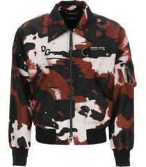 dolce & gabbana camouflage nylon bomber jacket