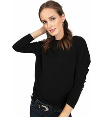 sweater privilege tejido negro - calce regular