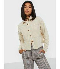 nly trend cord pocket shirt skjortor
