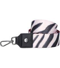 accesorio straps cartera cebra blanco zappa