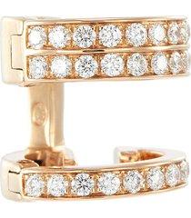 'berbère' diamond 18k rose gold mini single hoop earring