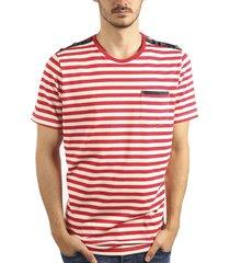 camiseta rayas cuello redondo rojo ref. 108041119
