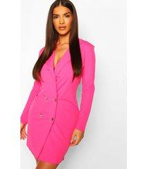 blazer jurk, warm roze