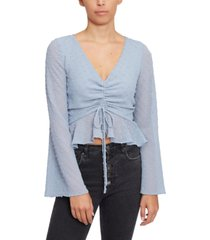 lucy paris drawstring-front crop top