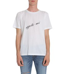 saint laurent appelle moi print t-shirt
