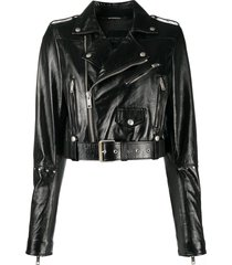 givenchy studded biker jacket - black