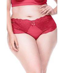 calcinha sempre sensual lingerie retrô vermelho - kanui