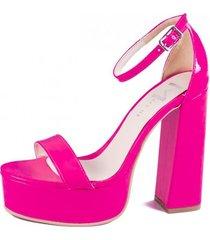 sandalia  rosa flúo meet me