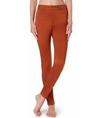 calzedonia - push-up and soft touch jeans, m, orange, women
