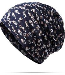 donne fiori stampati cappellini di cotone sciarpa del cappello tempo libero sciarpa multifunzione del cappello del cofano