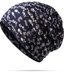 sciarpa multifunzionale del cappello del cofano di svago di viaggio del cappuccio dei berretti da baseball dei capelli dei cotone dei fiori stampati donne