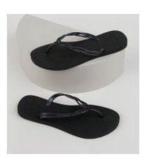 chinelo feminino havaianas flash sweet preto