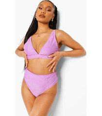 essentials high waist bikini brief, bright lilac