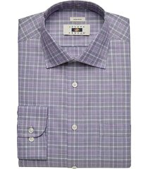 joseph abboud men's lavender plaid dress shirt - size: 16 34/35