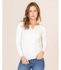 suéter aplique metálico