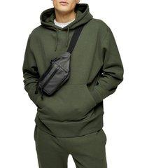 men's topman dry hooded sweatshirt, size small - green