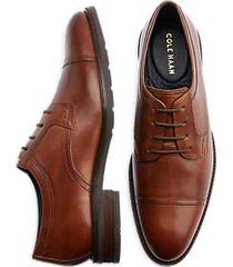 cole haan winston tan cap toe derbys