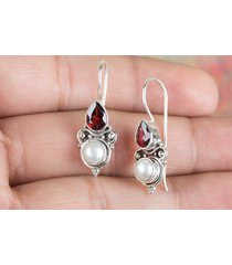 chunky handmade 925 silver natural multi-color gemstone earring bmj-70